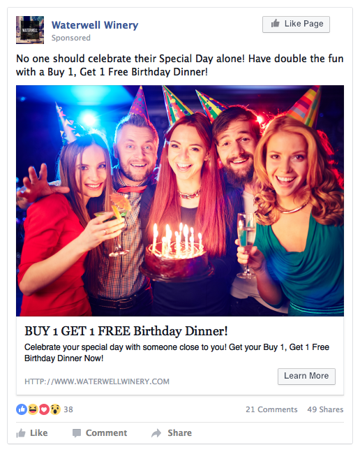 Using Birthday Offers To Attract New Customers Facebook Ads